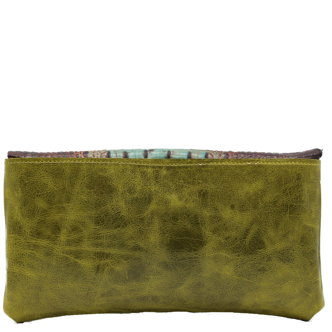 clutch bag noveled leather