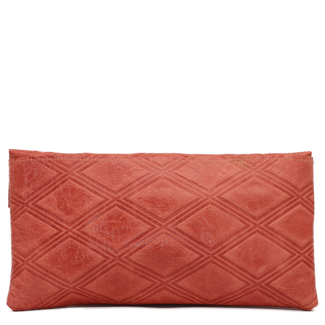 leather clutch bag fits key, phone, wallet and essentials