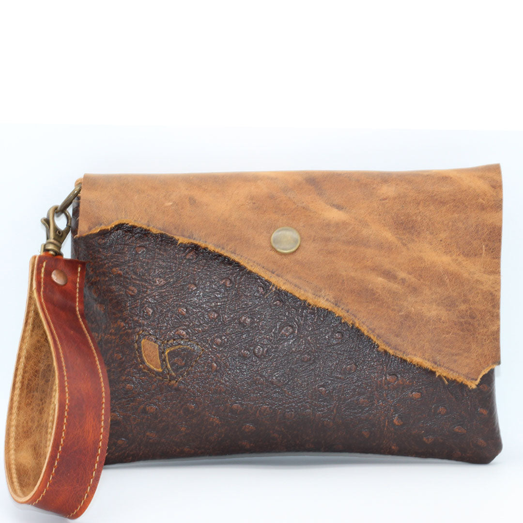 Wristlet wallet with zipper and pouch pockets