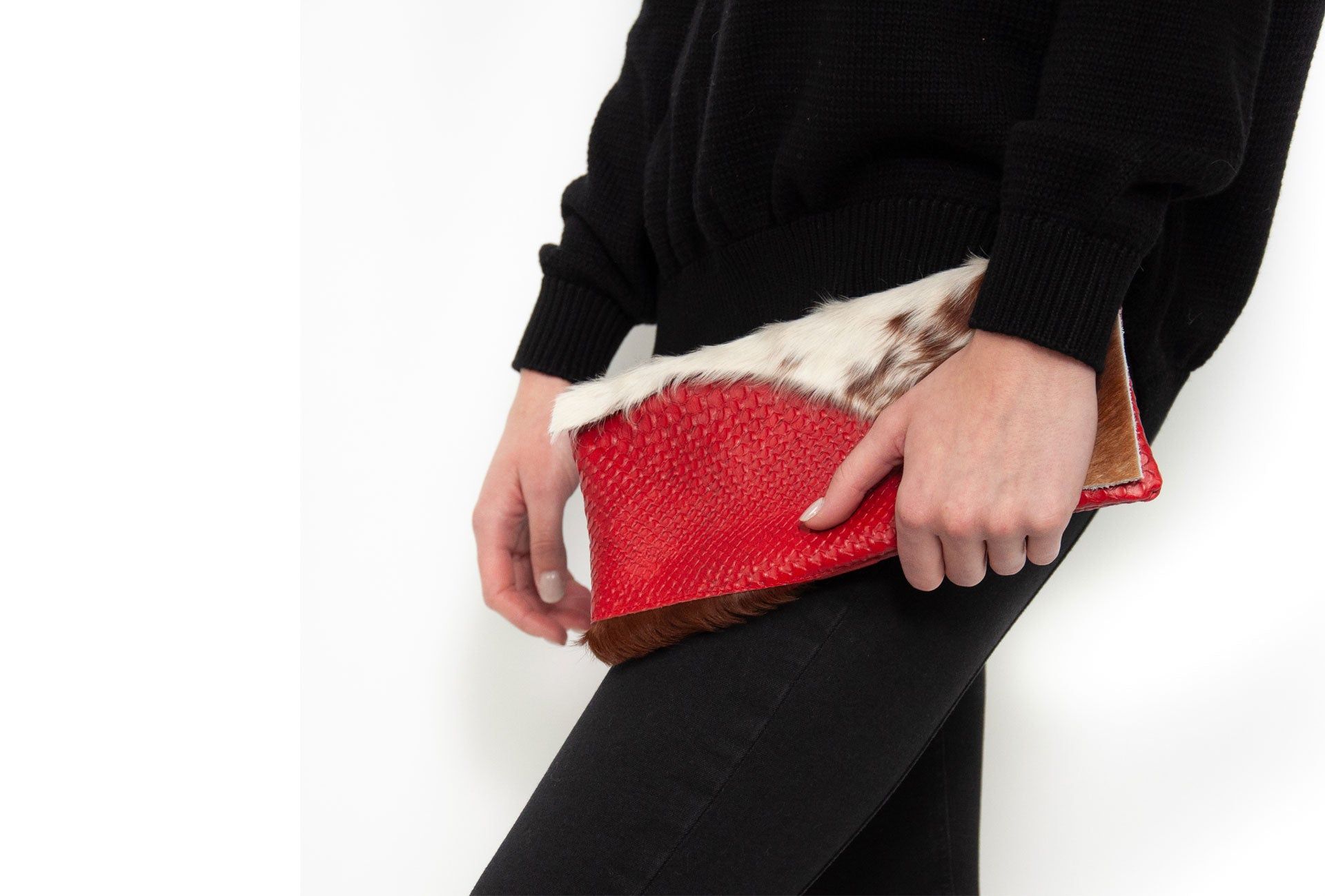 Clutch bag bold collection fits phone, keys, sunglasses, lip gloss and more. Our limited-edition handmade leather bags encourage you to own your style