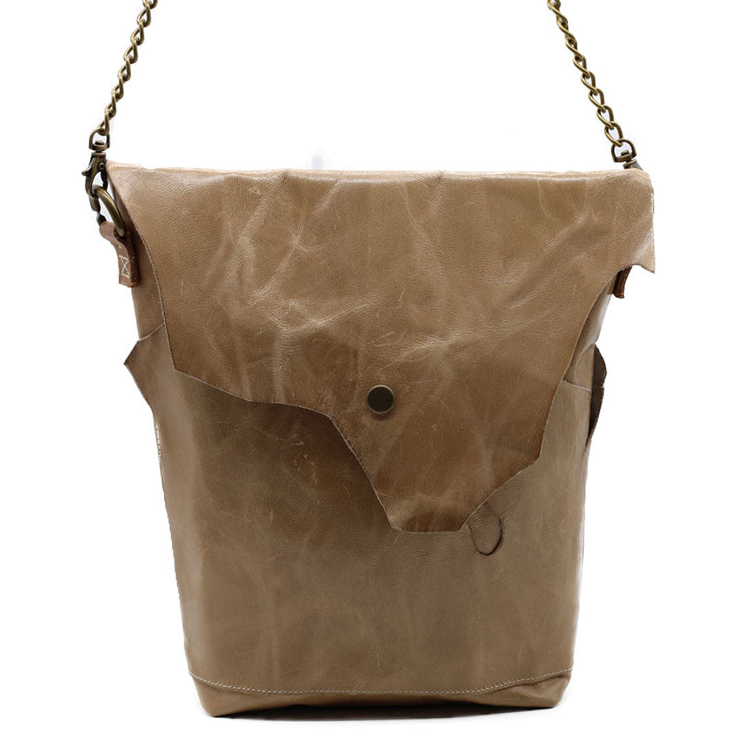 Chain crossbody bags handmade leather handbags celebrating imperfection