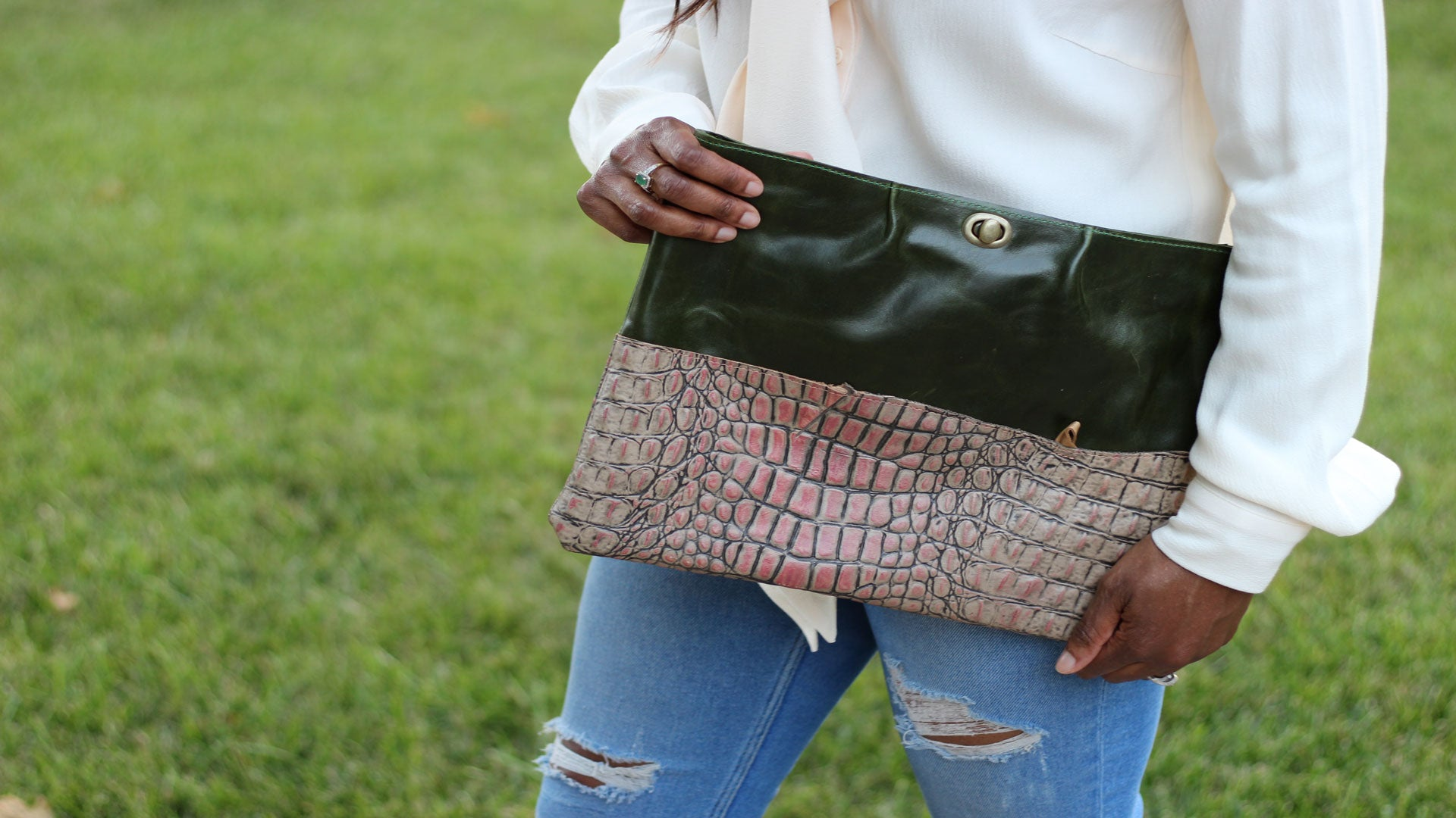 Oversized clutch bags with a texture pattern unique purses