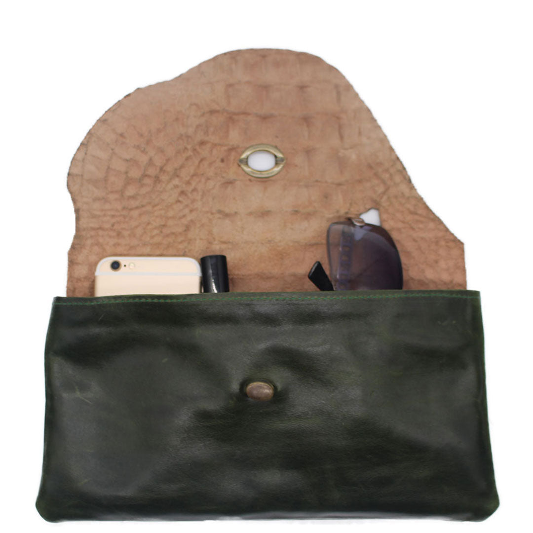 Handmade leather handbags artistic and stylish unique purse, pouch and zipper pockets