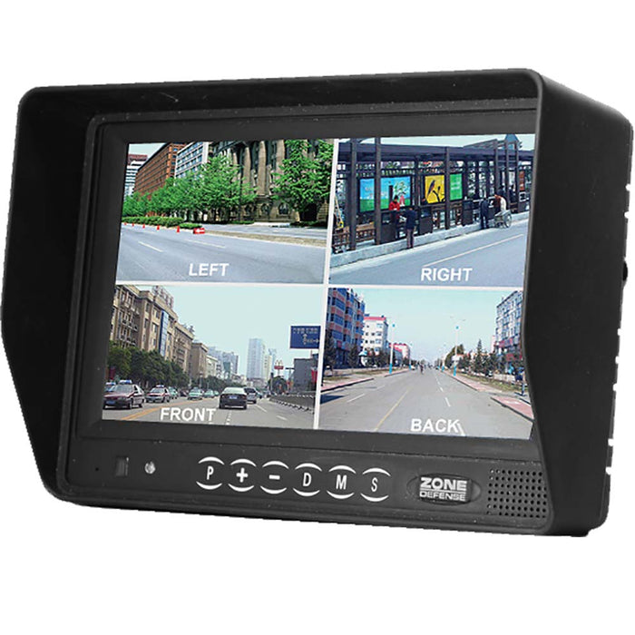 "Zone Defense 7"" Quad Screen Monitor"