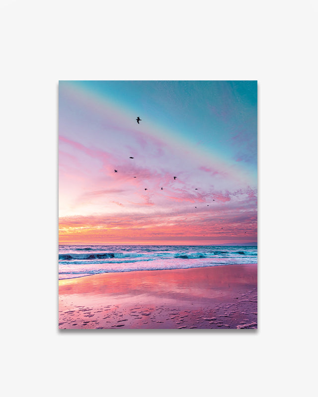A Pink Sunset in Winter Art Print