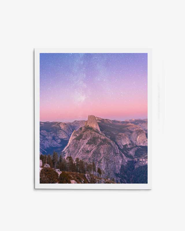 Half Dome Dreamy Eve Art Print