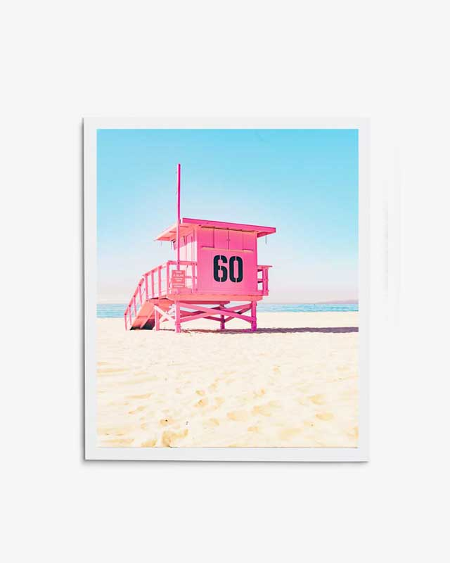 Pink Guard Tower Art Print