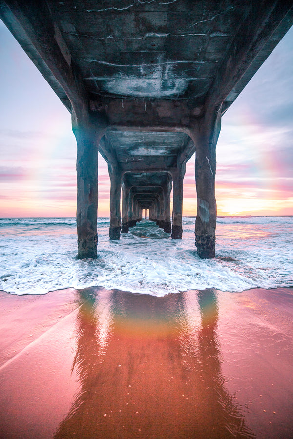 Under the Manhattan Beach Pier Art Print