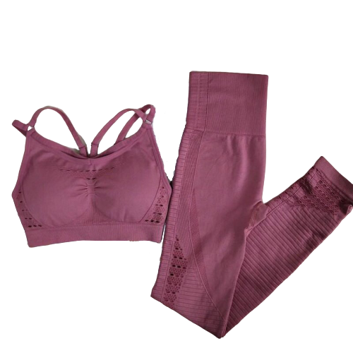 Conjunto Top com bojo + Legging Sem Costura MG Fitness®