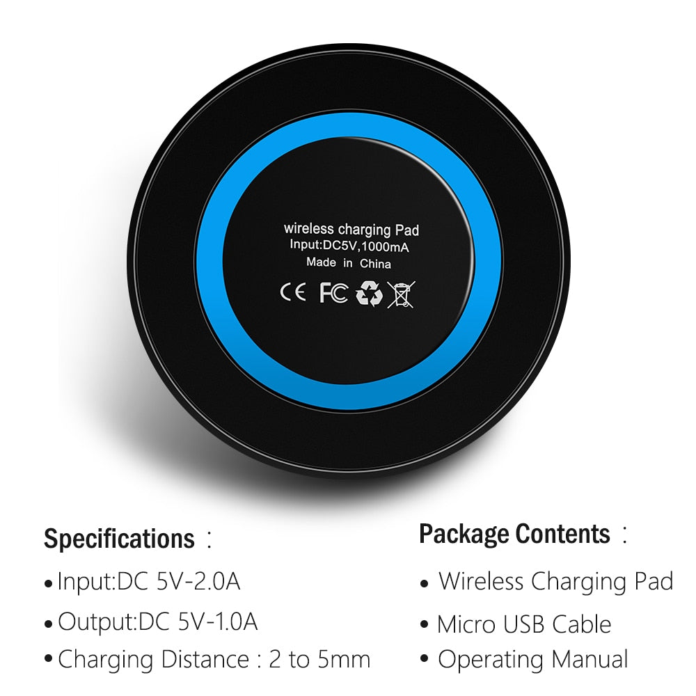 QI Pad™ Wireless Fast Charger - For all types of smartphones