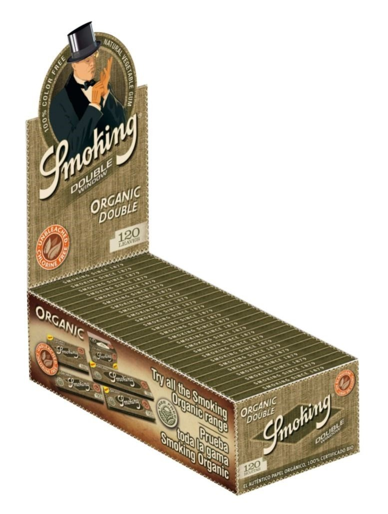 Smoking Organic Double Window (25x120) - CBD Discounter
