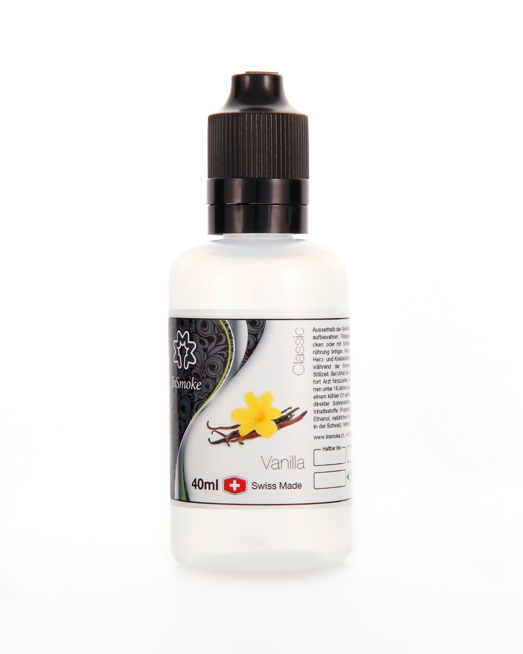 InSmoke Liquid 40ml Vanilla 0mg Swiss Made - CBD Discounter