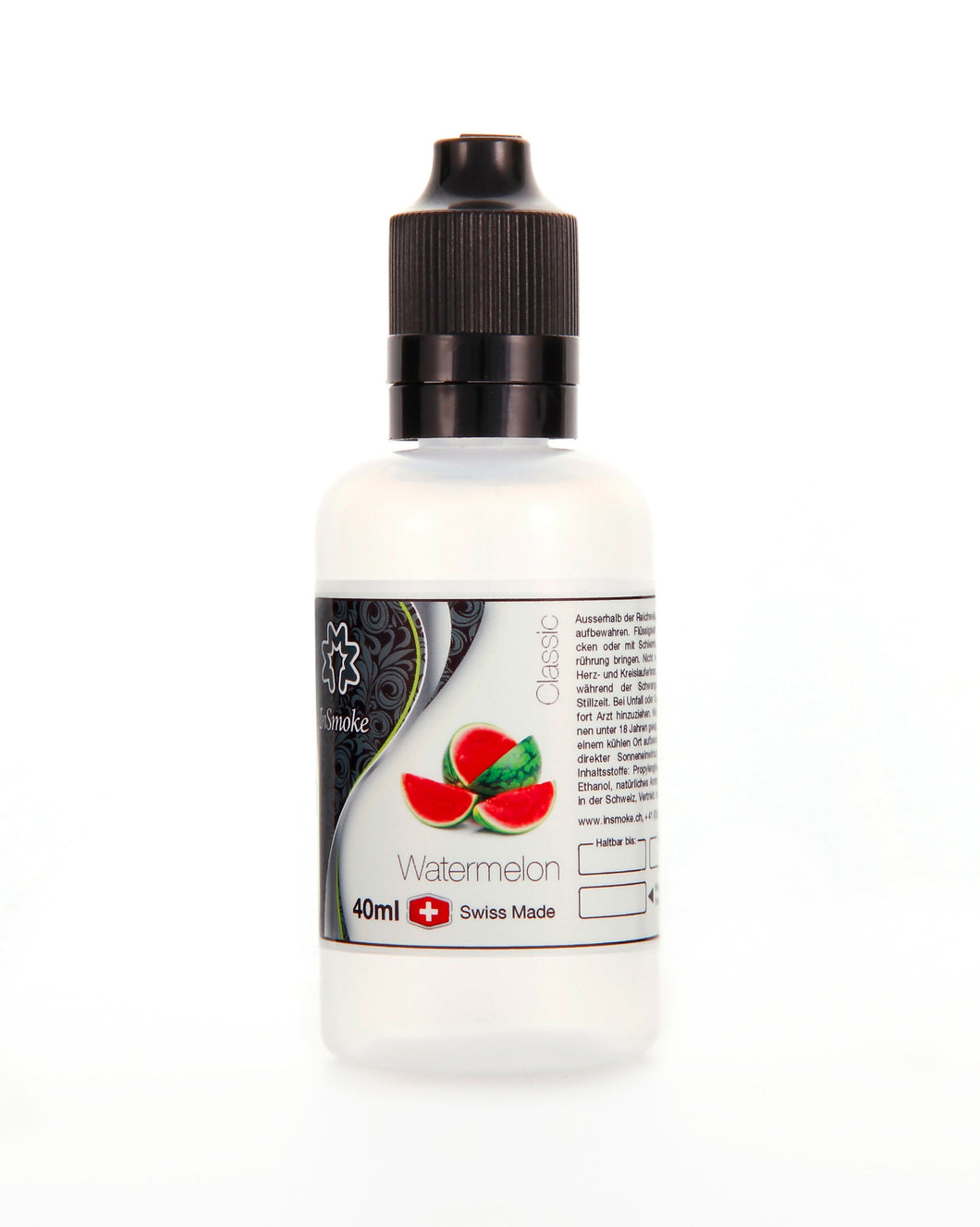 InSmoke Liquid 40ml Wassermelone 0mg Swiss Made - CBD Discounter