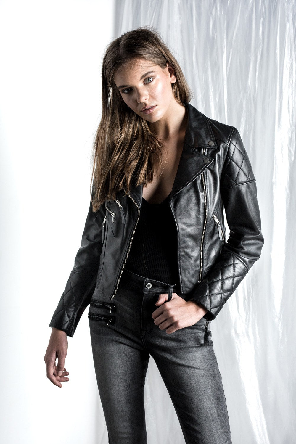 Saint Rose Logan Leather Jacket