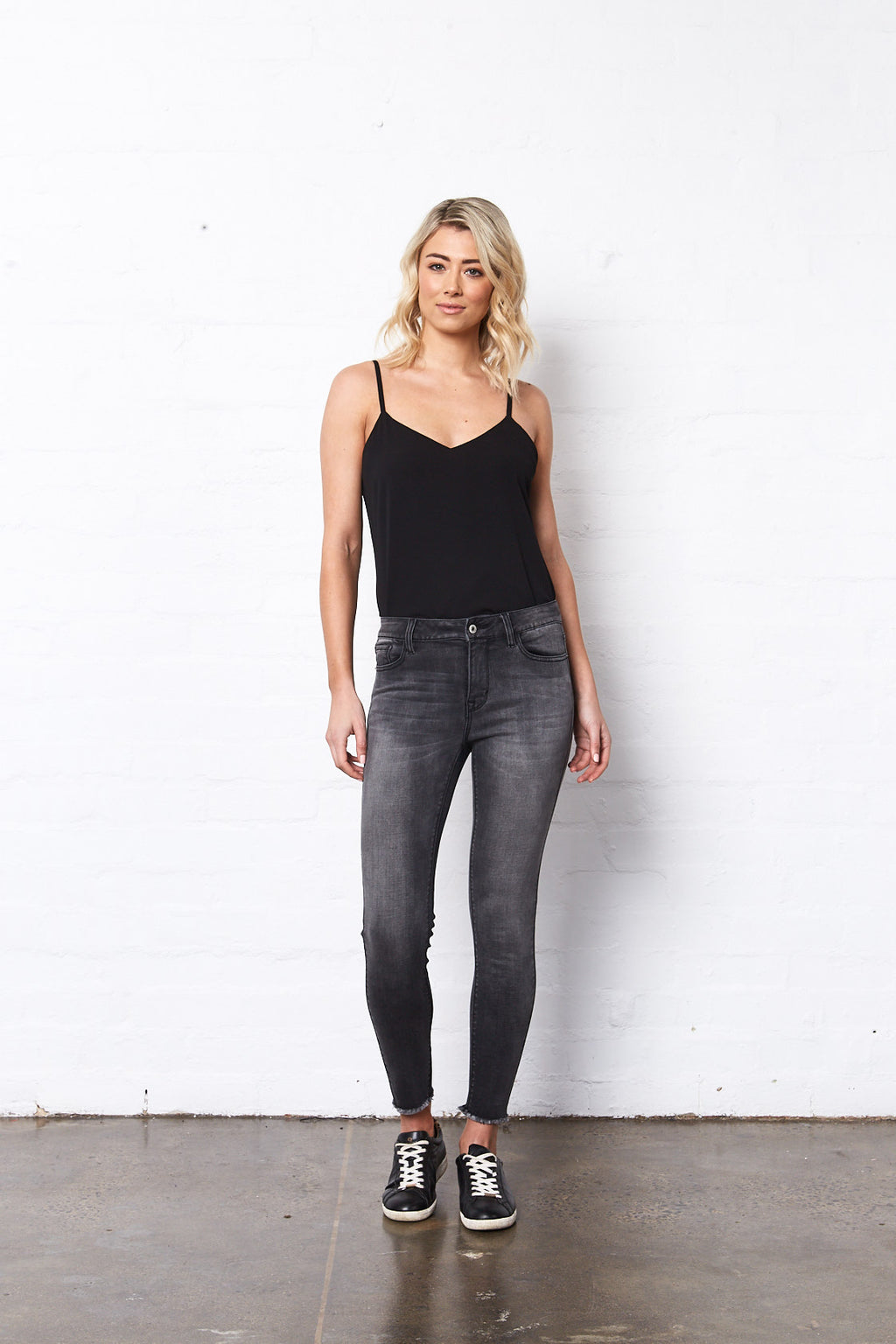 Lucia Jeans, Charcoal by Saint Rose