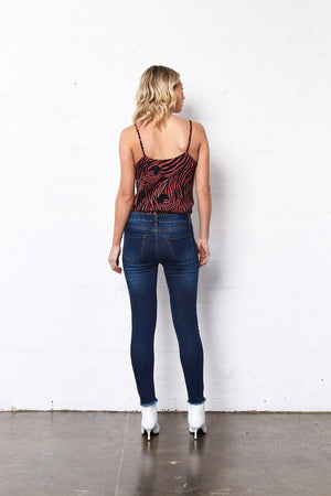 Saint Rose Sloan indigo denim jeans back