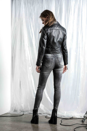 Saint Rose Logan leather jacket back