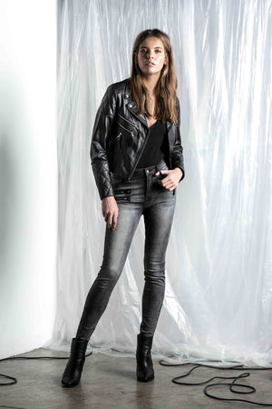 Saint Rose Logan leather jacket front