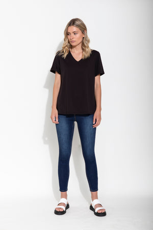 ANDI TEE ORGANIC COTTON - BLACK