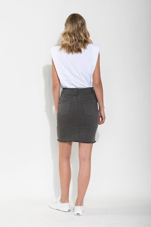SIERRA DENIM SKIRT - KHAKI