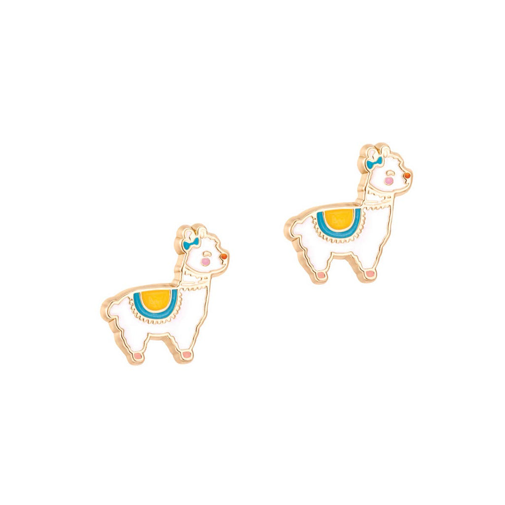 Cutie Enamel Stud Earrings/Llama
