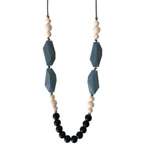 The Nathan Black Teething Necklace
