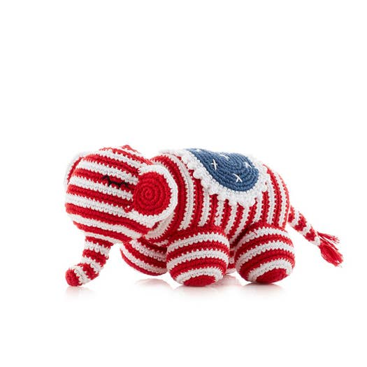 Red ,White & Blue Elephant