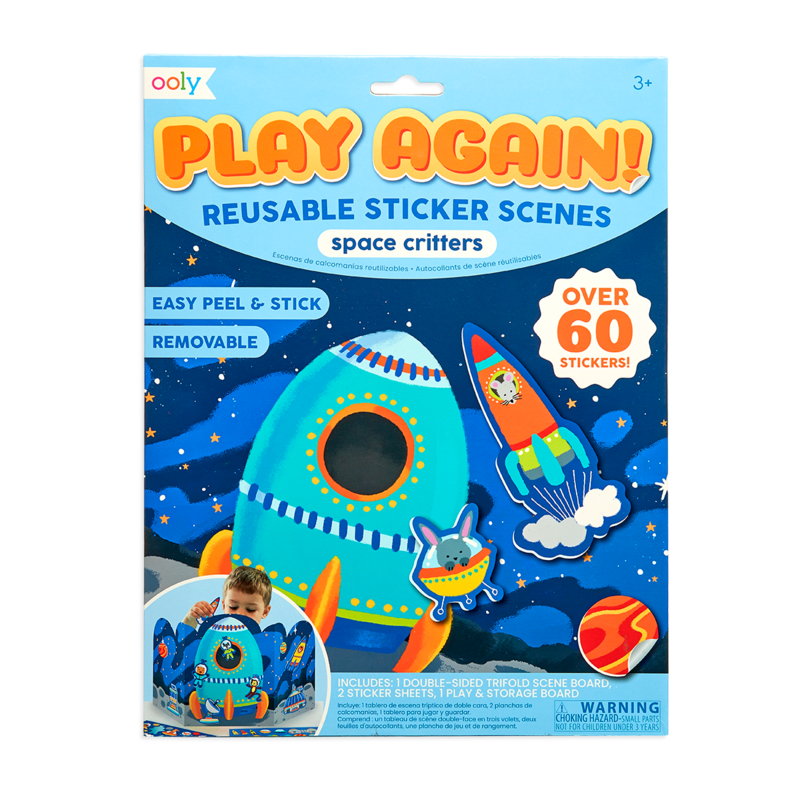 Play Again Reusable Stickers Space Critters