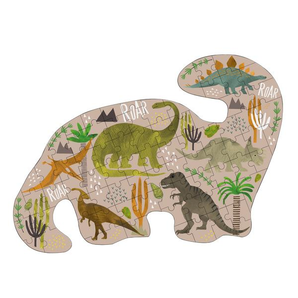 Dino Shaped Jigsaw w/Dino Shaped Box 80Pc.