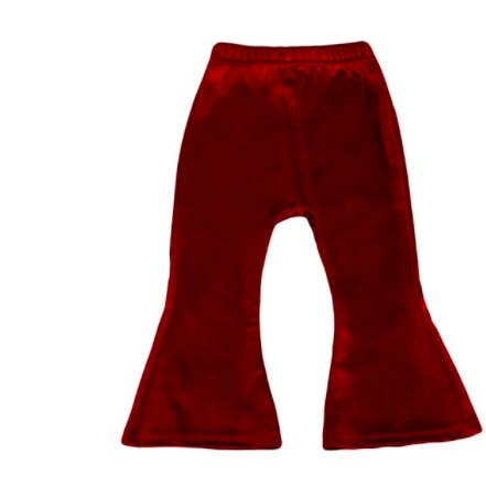 Loidis Velvet Bell Bottoms/Wine