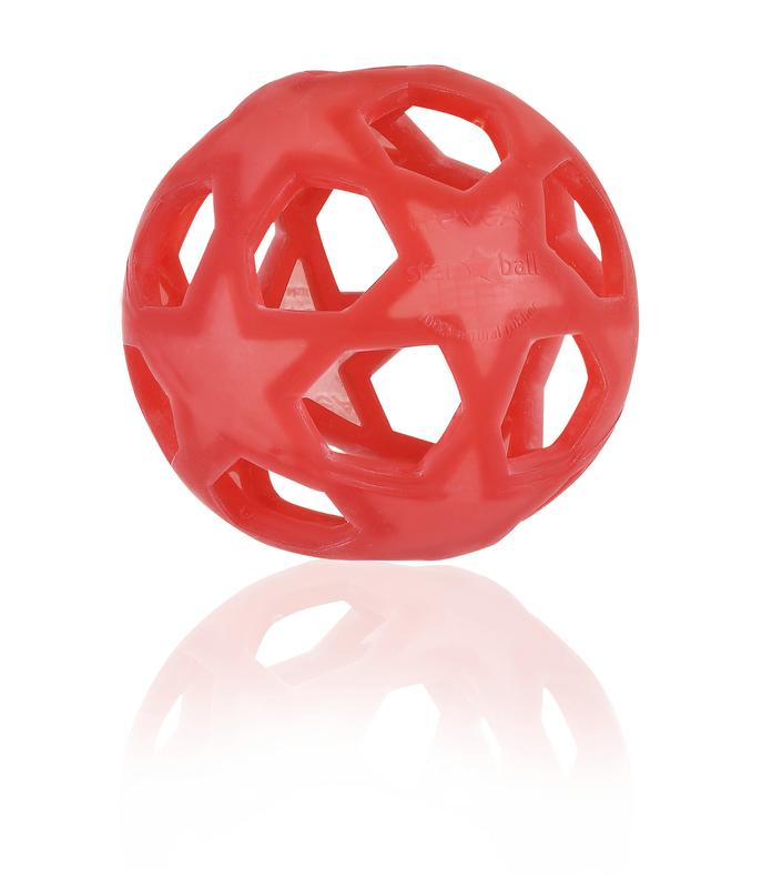 Hevea Star Ball Tactile Toy/Raspberry
