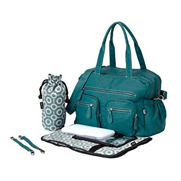 Turquoise Buffalo Faux Leather Carry All