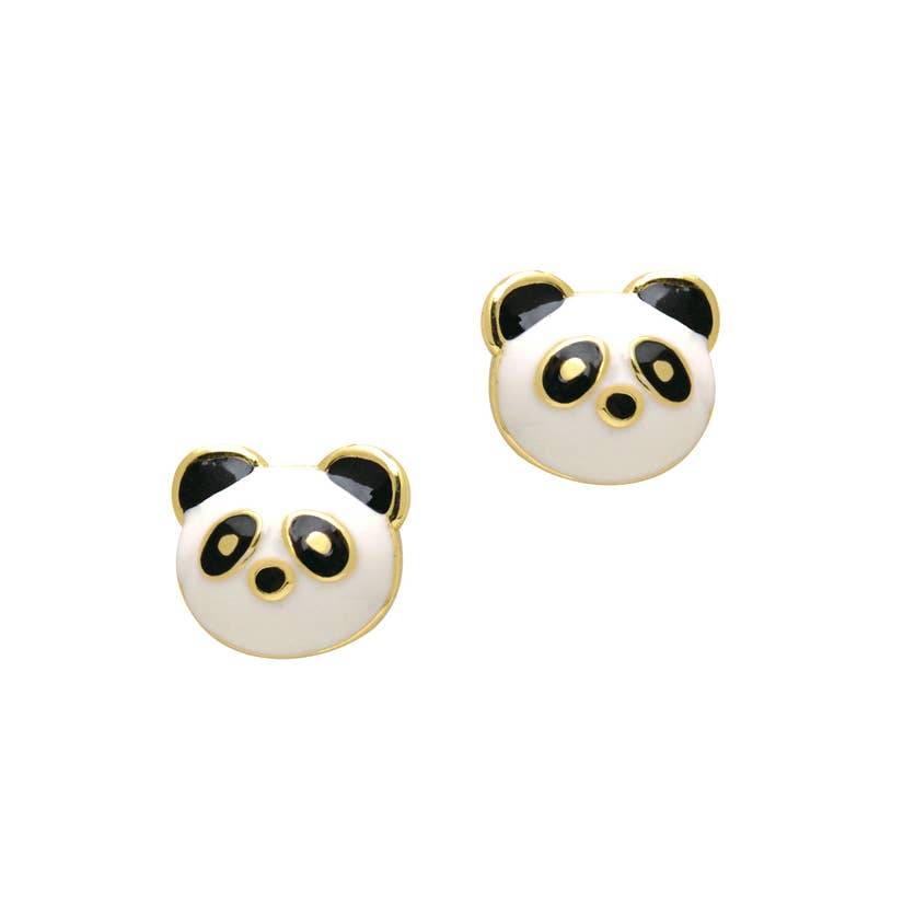 Cutie Enamel Stud Earrings/Pandatastic