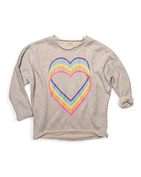 Slouchy Sweatshirt- Love Sparkle