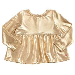 Bette Light Gold Metallic Top