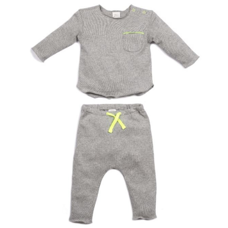 Bobbi Knit Set - Grey