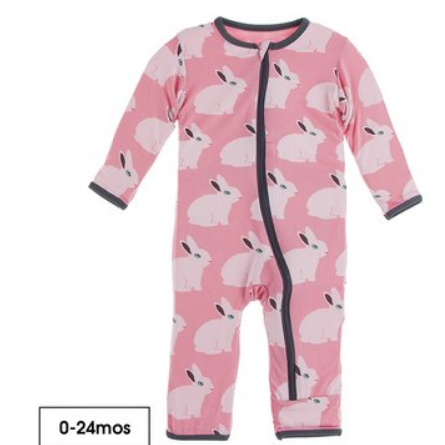 Strawberry Forest Rabbit Coverall Zip-Up