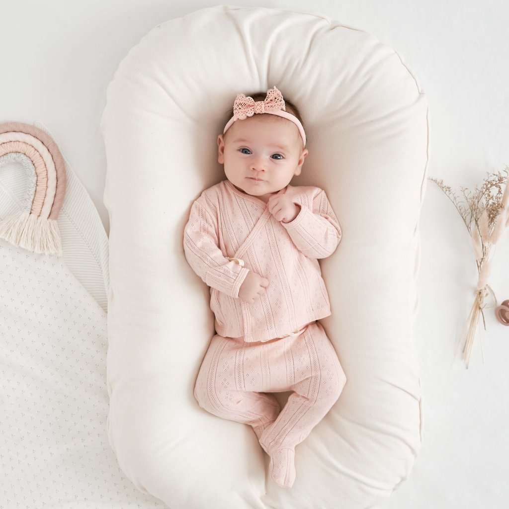 Pale Pink Pointelle Layette Set