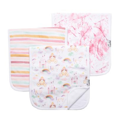 3-Pack Premium Burp cloths Enchanted