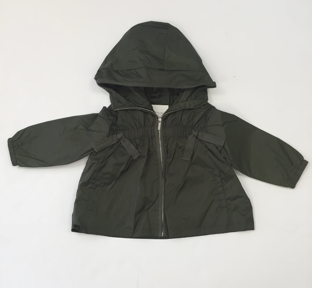 Olive Green Girls Raincoat