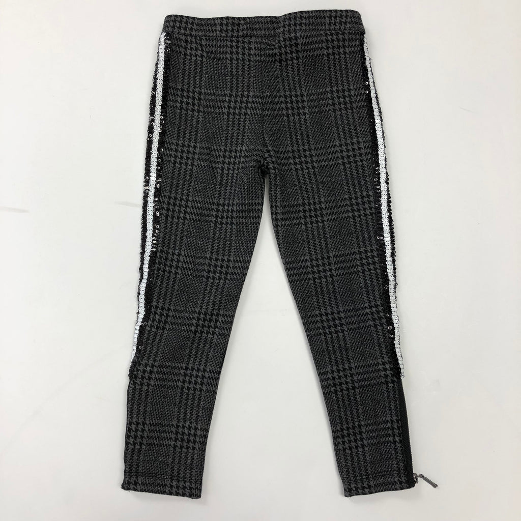 Plaid Sequence Stripe Leggings