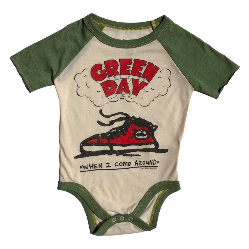 Green Day S/S Raglan Onesie