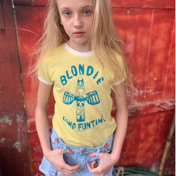 Blondie Girls Vintage Wash Ringer Tee