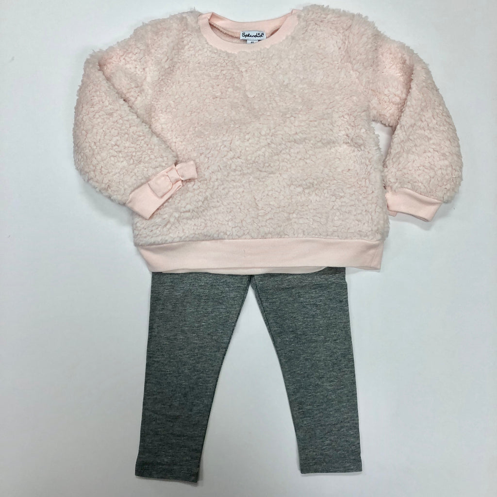 Toddler Creole Pink Furry Top Set