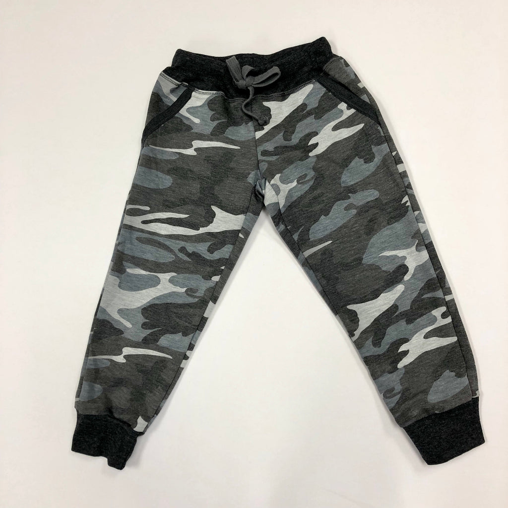 Slouch Pocket Charcoal Camo Joggers