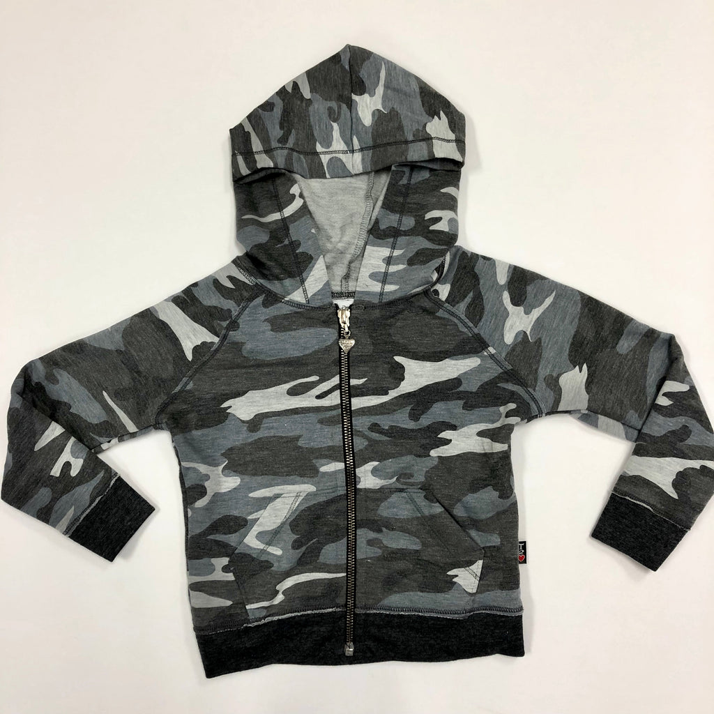 Charcoal Camo Zip-up Hoodie