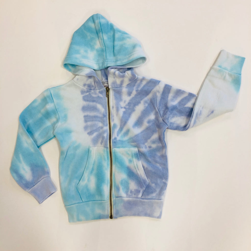 Tropical Blue & Purple Zip Up Hoodie