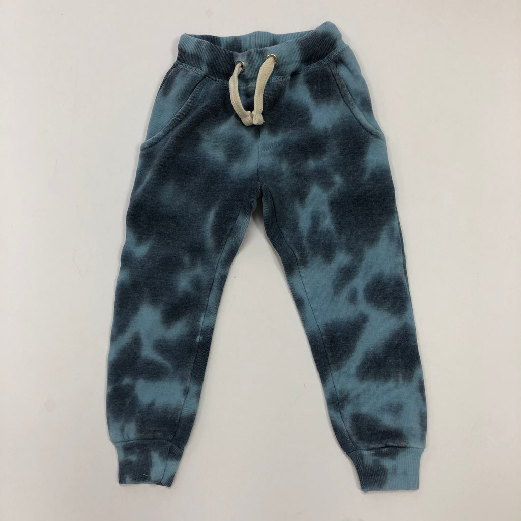Light Blue With Navy Burnout Tie Dye Pant