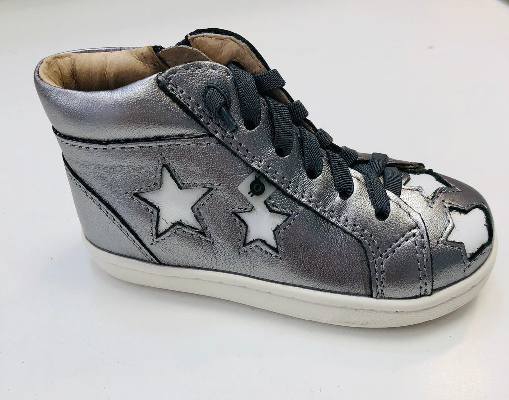Old Soles Starey High Top Rich Silver/Snow