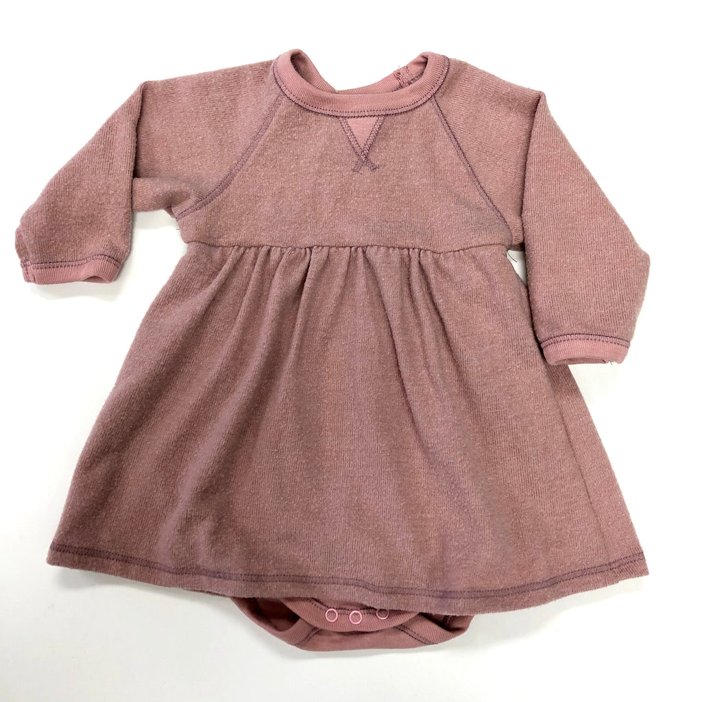 Hacci Raglan Dress/Hippo Pink